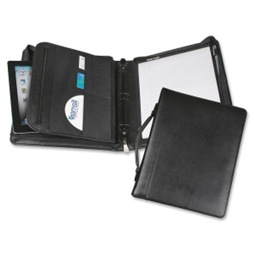 Samsill Black Regal Leather Zipper Binder Portfolio - 5pk (SAM-15540) Image 1
