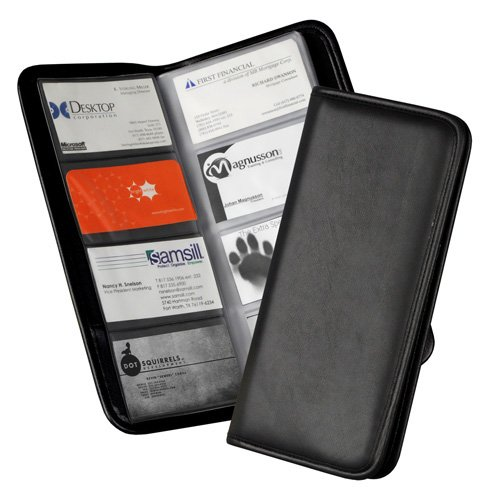 Samsill Black Sterling Business Card Holder - 24pk (SAM-80850) - $344.7 Image 1