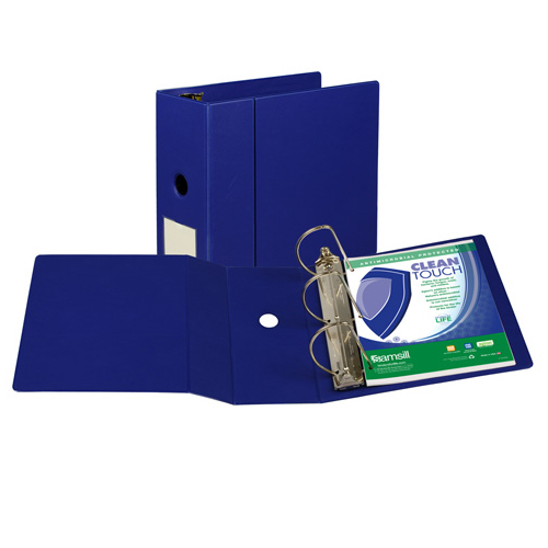Samsill Blue Clean Touch Antimicrobial D-Ring Binder (SAM-CTADRBBLU) Image 1