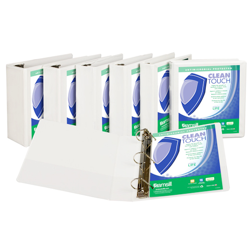Samsill Clean Touch Antimicrobial D-Ring View Binders (SAM-CTADRVB) Image 1