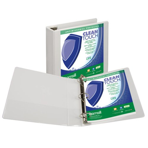 Samsill White Clean Touch Antimicrobial Round Ring View Binders (SAM-CTARVB) Image 1