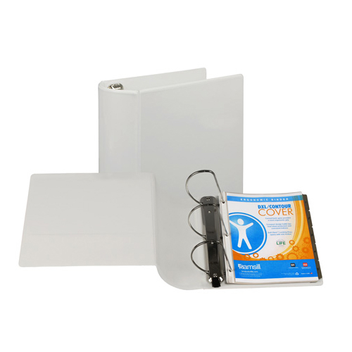"Samsill 1"" White Earth's Choice Biodegradable Angle-D Ring View Binder - 12pk (SAM-16937) Image 1"