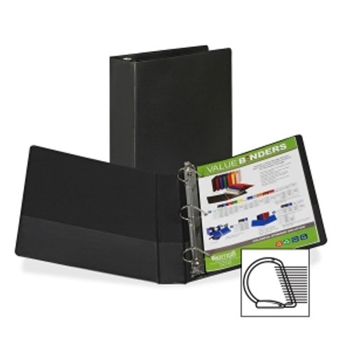 "Samsill 1.5"" Black Value Plus Angle-D Ring Storage Binder -12pk (SAM-16650) Image 1"