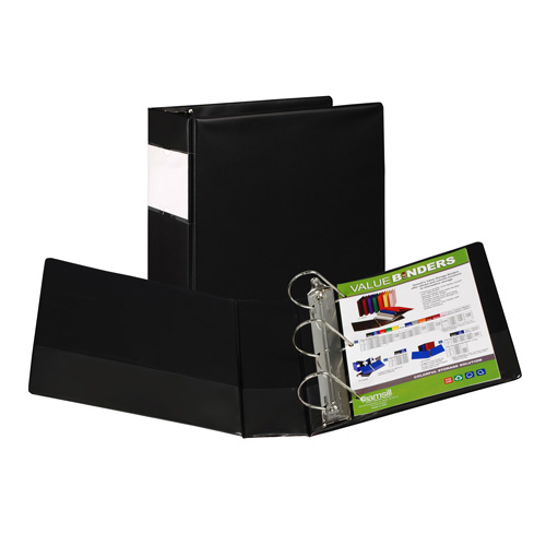 Samsill Value Plus Locking Angle-D Ring Black Storage Binder (SAMVPLUSBLK) Image 1