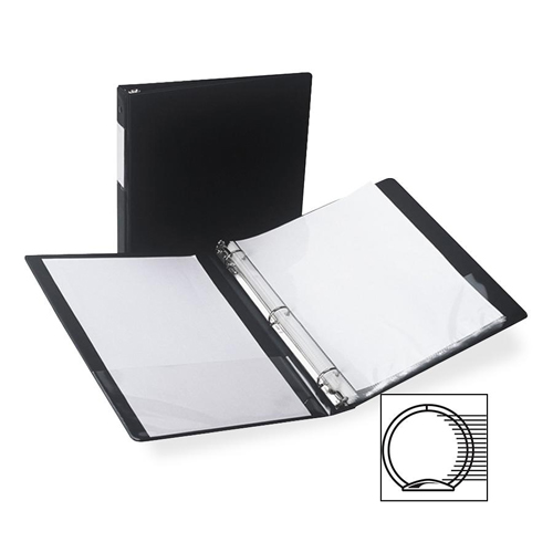 """Samsill 1/2"""" Black Clean Touch Antimicrobial Round Ring Binder - 12pk (SAM-14310) Image 1"""