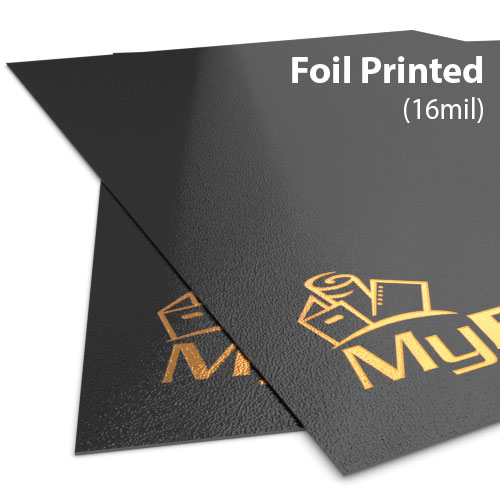 16mil Sand Poly Foil Printed Covers - Add Your Logo (MYFPC-SAND16) Image 1