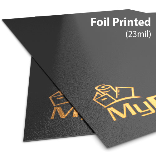 23mil Sand Poly Foil Printed Covers - Add Your Logo (MYFPC-SAND23)