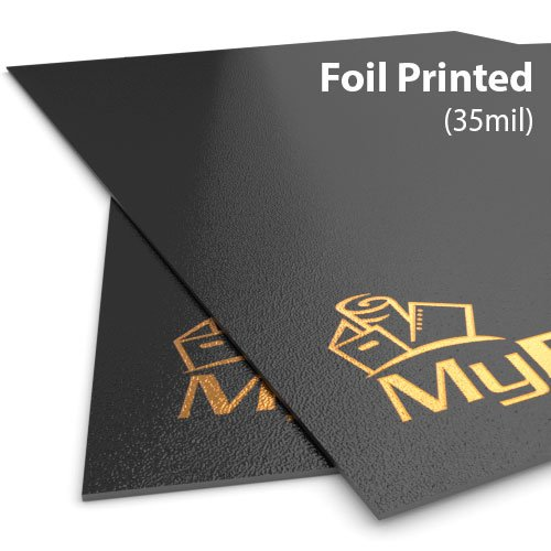 35mil Sand Poly Foil Printed Covers - Add Your Logo (MYFPC-SAND35)