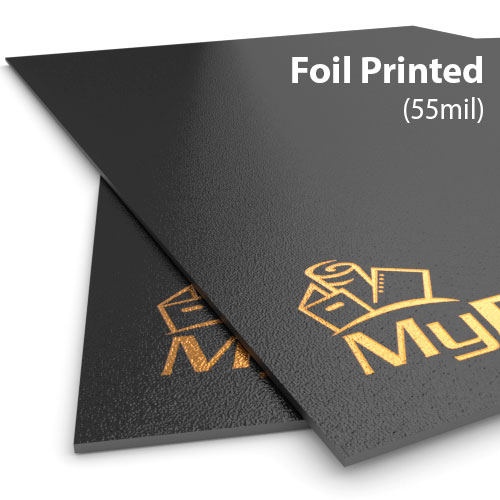 55mil Sand Poly Foil Printed Covers - Add Your Logo (MYFPC-SAND55)