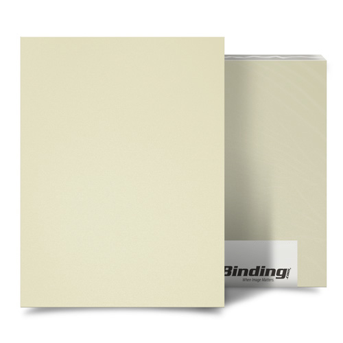 "Ivory 16mil Sand Poly 11"" x 17"" Binding Covers - 25pk (MYMP1611X17IV) Image 1"