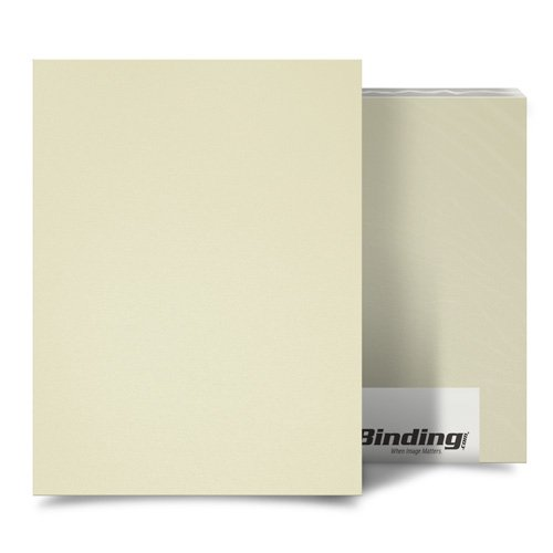 "Ivory 55mil Sand Poly 8.75"" x 11.25"" Binding Covers - 10pk (MYMP558.75X11.25IV), Covers Image 1"