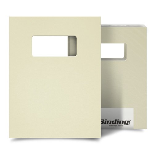 "Beige 35mil Sand Poly 9"" x 11"" Binding Covers with Windows - 25 Sets (MYMP359X11BGW) Image 1"