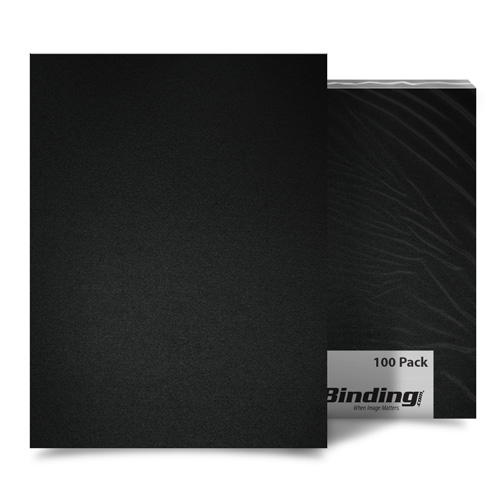 "Black 55mil Sand Poly 5.5"" x 8.5"" Binding Covers - 10pk (MYMP555.5X8.5BK) Image 1"