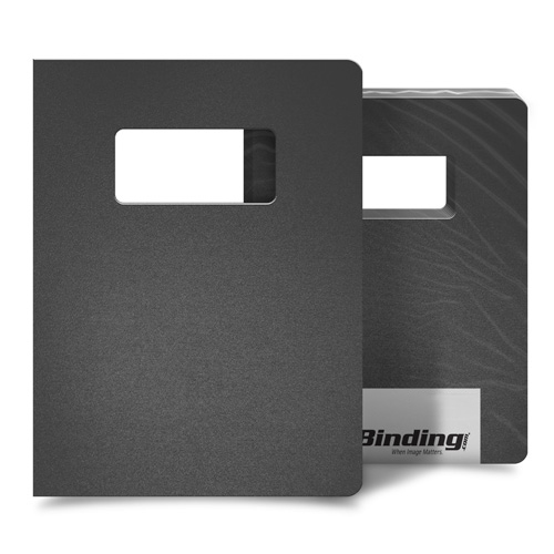 """Dark Gray 35mil Sand Poly 8.75"""" x 11.25"""" Covers with Windows - 25 Sets (MYMP358.75X11.25DGYW), MyBinding brand Image 1"""