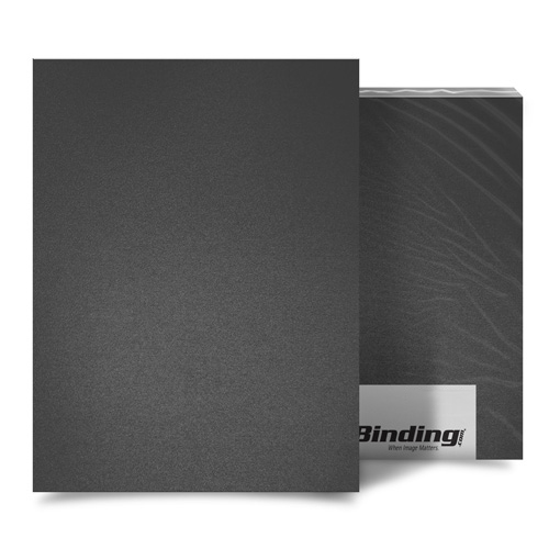 "Dark Gray 35mil Sand Poly 8.5"" x 11"" Binding Covers - 25pk (MYMP358.5x11DGY) Image 1"