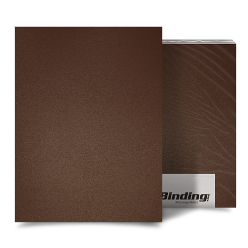 "Light Brown 35mil Sand Poly 8.5"" x 14"" Binding Covers - 25pk (MYMP358.5X14LBR) Image 1"