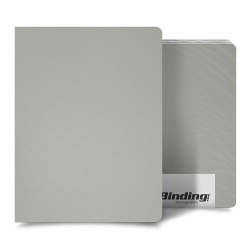 "Light Gray 16mil Sand Poly 8.75"" x 11.25"" Binding Covers - 25pk (MYMP168.75X11.25LGY) Image 1"
