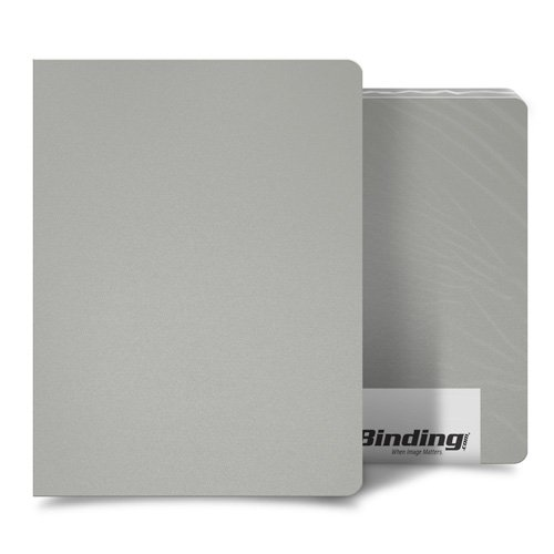 "Light Gray 23mil Sand Poly 8.75"" x 11.25"" Binding Covers - 25pk (MYMP238.75X11.25LGY) Image 1"