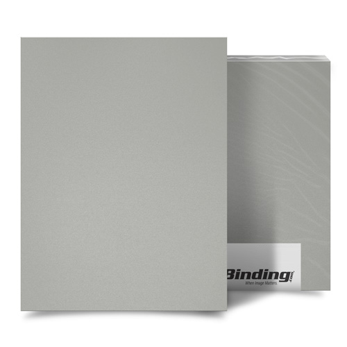 "Light Gray 16mil Sand Poly 8.5"" x 11"" Binding Covers - 25pk (MYMP168.5x11LGY) Image 1"