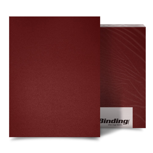 "Maroon 16mil Sand Poly 8.5"" x 11"" Binding Covers - 25pk (MYMP168.5x11MR) Image 1"
