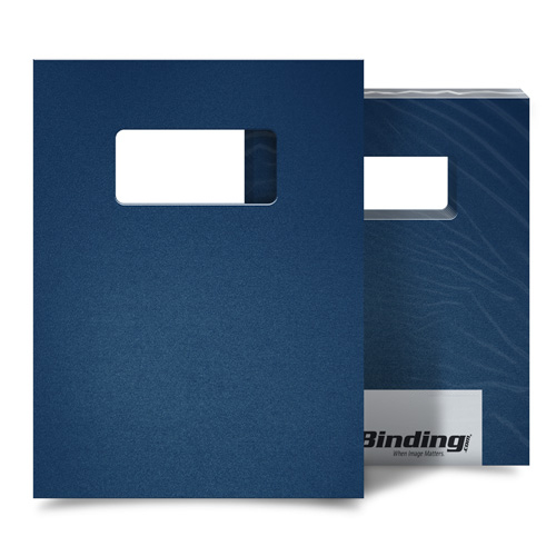 "12mil Navy Sand Poly 8.5"" x 11"" Covers With Windows (100 sets) (AKCSD12CSNV01W) - $95.16 Image 1"