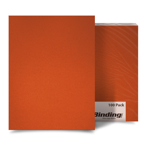 "Orange 35mil Sand Poly 11"" x 17"" Binding Covers - 25pk (MYMP3511X17OR) Image 1"