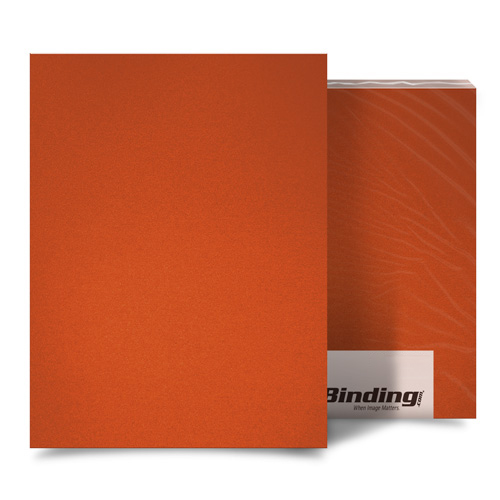 "Orange 16mil Sand Poly 8.5"" x 11"" Binding Covers - 25pk (MYMP168.5x11OR) Image 1"