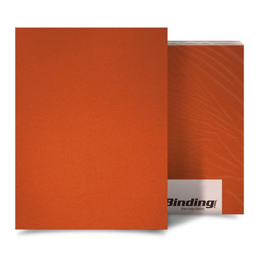"Orange 16mil Sand Poly 5.5"" x 8.5"" Binding Covers - 25pk (MYMP165.5X8.5OR) Image 1"