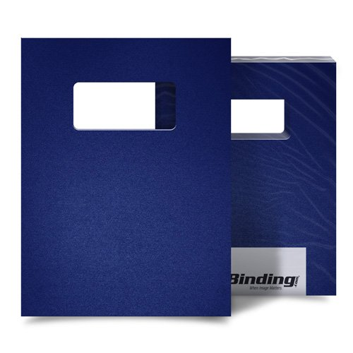 "Par Blue 55mil Sand Poly 9"" x 11"" Binding Covers with Windows - 10 Sets (MYMP559X11PBW) Image 1"