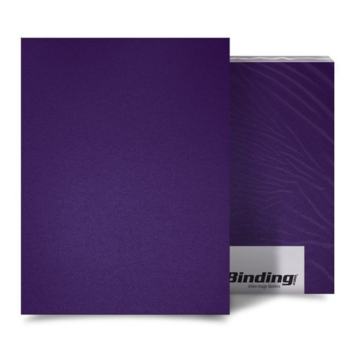 "Purple 23mil Sand Poly 11"" x 17"" Binding Covers - 25pk (MYMP2311X17PU) Image 1"