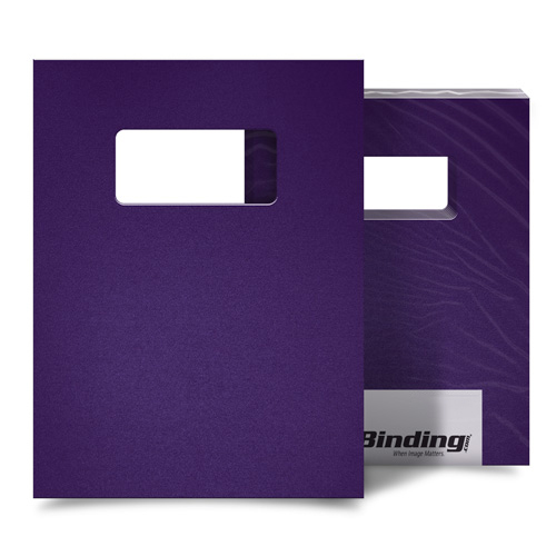 "Purple 23mil Sand Poly 9"" x 11"" Binding Covers with Windows - 25 Sets (MYMP239X11PUW) - $94.23 Image 1"
