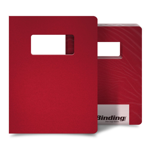 "Red 55mil Sand Poly 8.75"" x 11.25"" Covers with Windows - 10 Sets (MYMP558.75X11.25RDW) Image 1"
