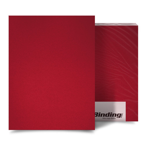 "Red 23mil Sand Poly 11"" x 17"" Binding Covers - 25pk (MYMP2311X17RD) Image 1"