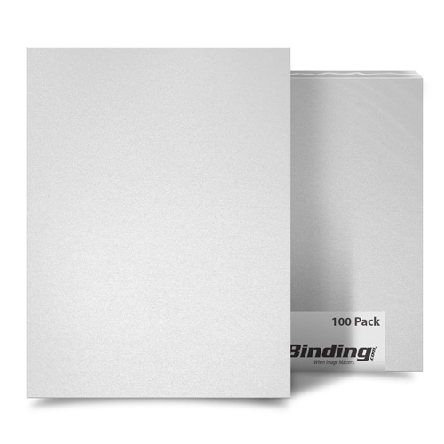 "White 55mil Sand Poly 8.5"" x 11"" Binding Covers - 10pk (MYMP558.5x11WH) Image 1"