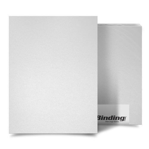 "White 23mil Sand Poly 5.5"" x 8.5"" Binding Covers - 25pk (MYMP235.5X8.5WH), Covers Image 1"