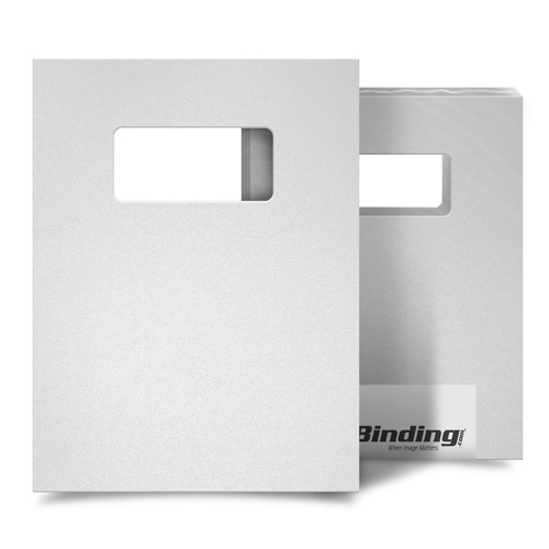 "White 23mil Sand Poly 9"" x 11"" Binding Covers with Windows - 25 Sets (MYMP239X11WHW) - $94.23 Image 1"