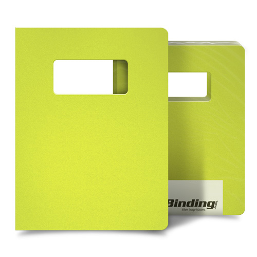 "Yellow 23mil Sand Poly 8.75"" x 11.25"" Covers with Windows - 25 Sets (MYMP238.75X11.25YEW), MyBinding brand Image 1"
