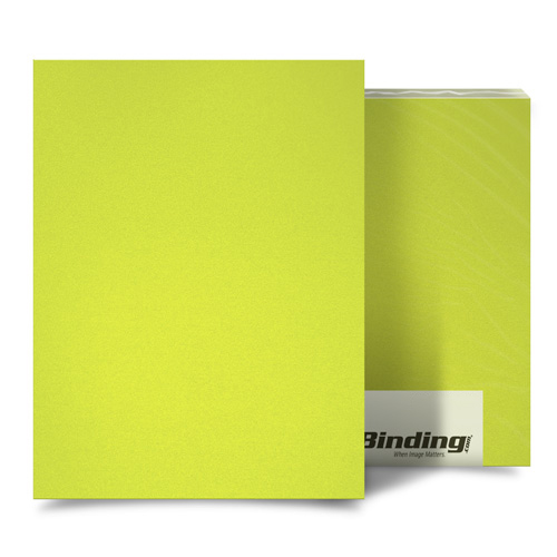 "Yellow 35mil Sand Poly 8.5"" x 14"" Binding Covers - 25pk (MYMP358.5X14YE) Image 1"