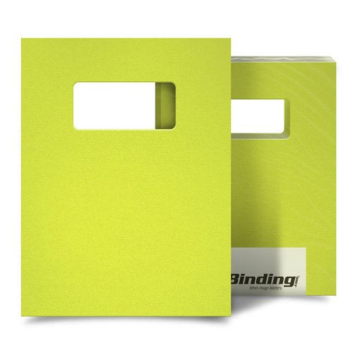 "Yellow 55mil Sand Poly 9"" x 11"" Binding Covers with Windows - 10 Sets (MYMP559X11YEW) Image 1"
