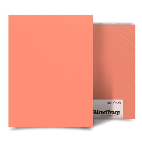Sassy Salmon A3 Size Card Stock Covers - 100pk (MYCSA3SS), MyBinding brand Image 1