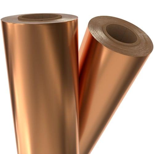 "Copper Satin Matte 8"" x 100' Laminating / Toner Fusing Foil (SM-COP-40-8) Image 1"