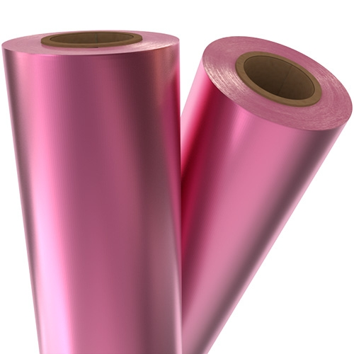 "Fuchsia Pink Satin Matte 8"" x 100' Laminating / Toner Fusing Foil (SM-PNK-54-8) Image 1"