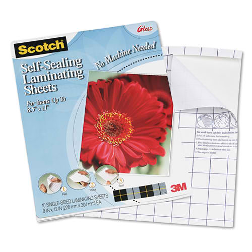 "Scotch 9-1/16"" x 11-5/8"" Letter Size Single Sided Laminating Sheets - 10pk (LS854SS-10), Scotch brand Image 1"