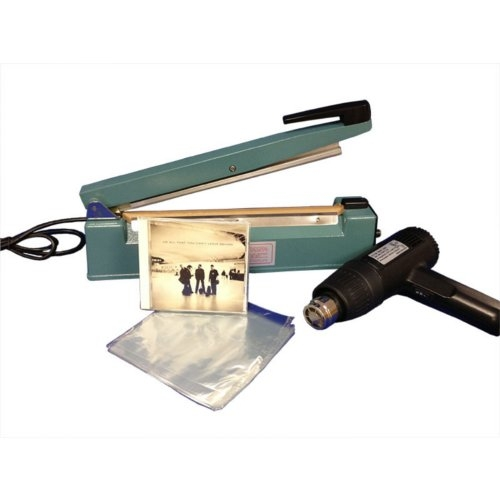 "SealerSales 12"" Shrink Wrapping Starter Kit w/ 6"" x 6.5"" CD Shrink Bags (SWK-12-04CD) Image 1"