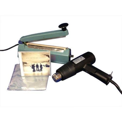 "SealerSales 8"" Shrink Wrapping Starter Kit w/ 6"" x 6.5"" CD Shrink Bags (SWK-8-04CD) Image 1"