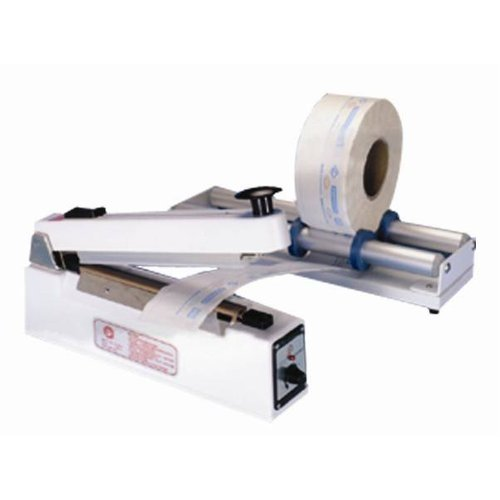 "SealerSales 8"" Hand Impulse Sealer w/ Sliding Cutter (10mm Seal Width) (KF-210HC) Image 1"