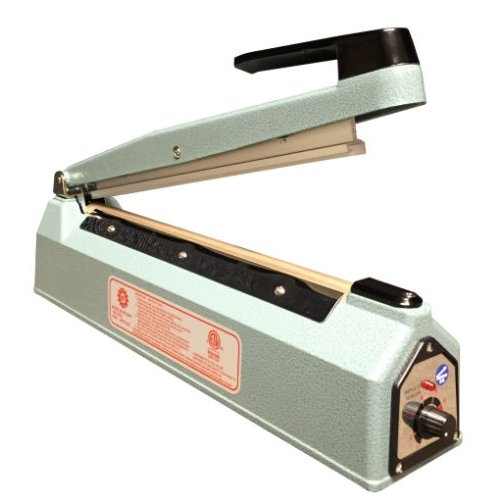 "SealerSales Blue 12"" Hand Impulse Sealer w/ 2mm Seal Width (KF-300H) Image 1"