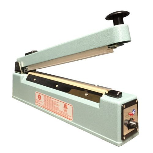 "SealerSales 12"" Hand Impulse Sealer w/ Sliding Cutter (5mm Seal Width) (KF-305HC) Image 1"