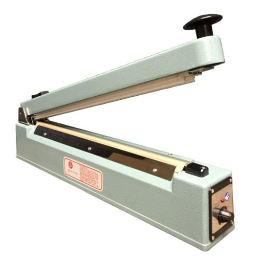 "SealerSales 16"" Hand Impulse Sealer w/ Sliding Cutter (2.6mm Seal Width) (KF-400HC) Image 1"