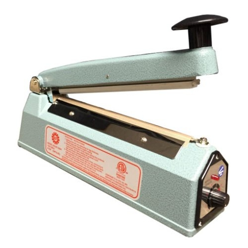 "SealerSales Blue 8"" Hand Impulse Sealer w/ 2mm Seal Width (KF-200H) Image 1"